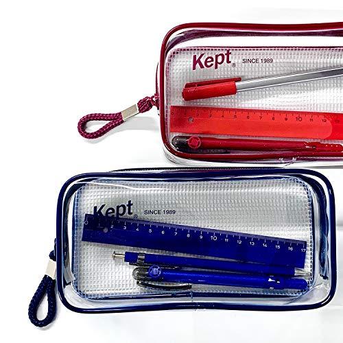 ペンケースケプトKeptクリアペンポーチライトブルーKPF902H