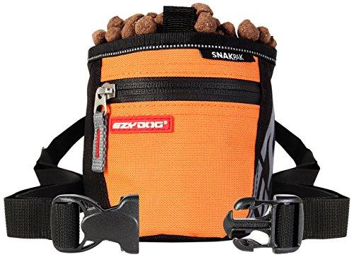 EzyDog Snak Pak Treat Bag - Leckerlitasche 650ml für Hundetraining mit Magnetverschluss - Farbe: orange