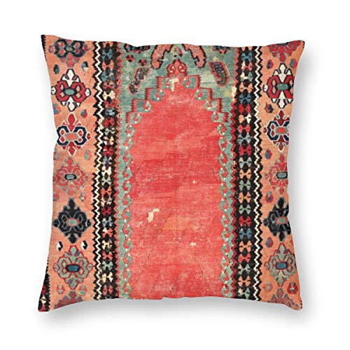 ~ Antique Cappadocian Turkish Niche Hidden Zipper Home Decorative Waterproof Throw Pillow Cover Cushion Case Boudoir 18x18 Inch