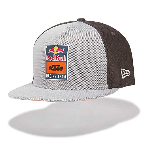 Red Bull KTM New Era 9Fifty Reflective Flatcap, Gris Unisex One Size Cap flaches Schild, KTM Factory Racing Original Bekleidung & Merchandise