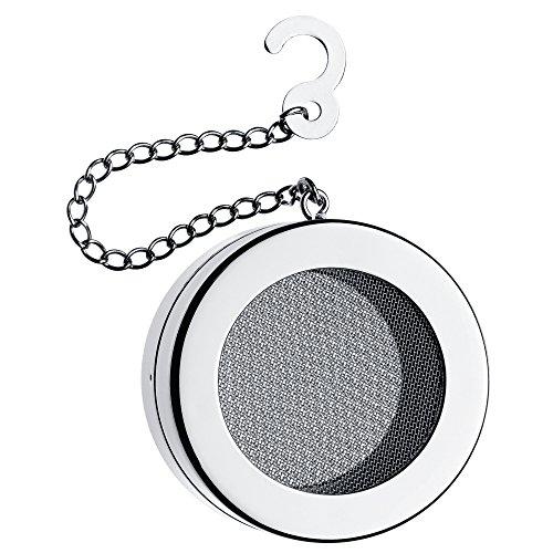 WMF LiberTea Teesieb, Ø 5,0 cm, Tee-Ei mit Kette, Cromargan Edelstahl poliert, spülmaschinengeeignet