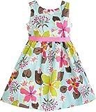 Sunny Fashion Girls Dress Blue Flower Print Size 9-10