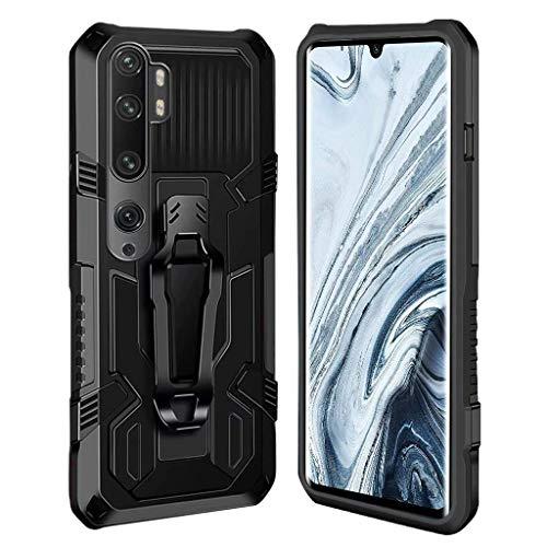Ubrand DBLX Hülle für Xiaomi Mi Note 10 Lite/Mi Note 10 / Mi Note 10 Pro, Ständer Anti-Rutsch Stoßfest Kratzfest Handyhülle, Panzerhülle Outdoor mit Kickstand Schutzhülle - Schwarz