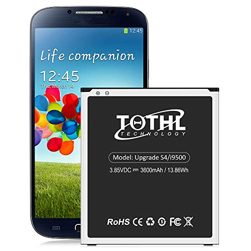 Galaxy S4 Battery, Upgraded 3600mAh Li-ion Replacement Phone Batteries for Samsung Galaxy S4 AT&T I337, Verizon I545, Sprint L720, T-Mobile M919, R970, I9500, I9505, LTE I9506, EB-B600BE