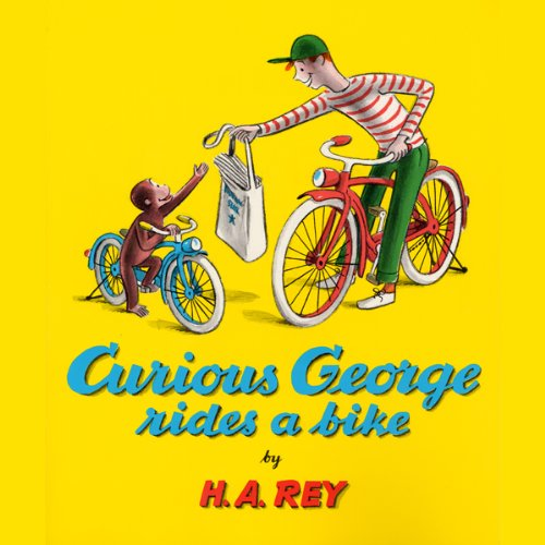 Curious George Rides a Bike audiobook cover art