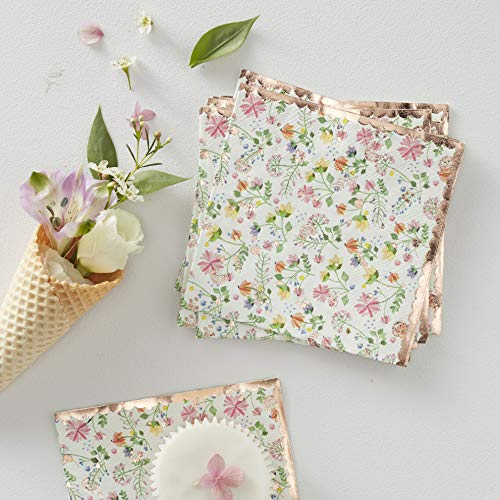 Ginger Ray Floral & Rose Gold Foiled Paper Ditsy, mehrfarbig