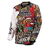O'Neal Mayhem Crank Jersey Motocross, color Negro/Multicolor Enduro MTB Cross DH, 0023C-10 - XXL
