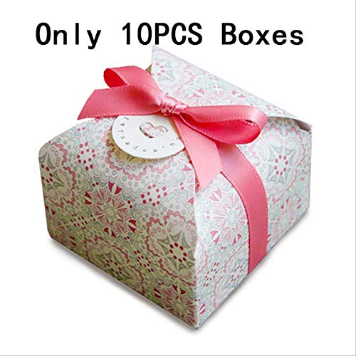 Emballage Cadeau Boite Party Present Sweet Wedding Favor Boxes For Candy Cake Chocolate Bag Flower Boxes Gift Box Packaging Rayonnement 10pc