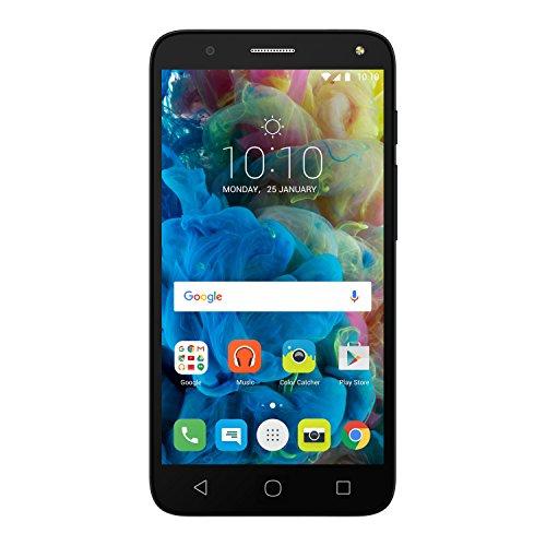 Alcatel Pop 4 Smartphone (12,7 cm (5 Zoll), Android, 8 Megapixel Kamera, 8 GB Speicher, 32 GB SD-Karten-Slot, Dual-SIM) schiefer