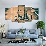 Cuadro En Lienzo Imagen Impresión,Pintura Decoración Cuadro Moderno En Lienzo De 5 Piezas XXL Canvas De 5 Pieza Anzuelos De Pesca XXL HD Abstracta Pared Imágenes Modulares