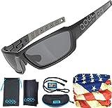 QOOL TIMES Polarized Men's Sports Sunglasses TR90 Light Weight Medium to Large 100% UV Protection...