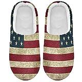 Linomo Zapatillas vintage de la bandera americana de los E.E.U.U....
