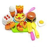 KUNEN Juego de Juguetes educativos para niños, 13 Piezas, plástico, para niños, para Cortar, Fiesta de cumpleaños, Cocina, Juegos de Pretender