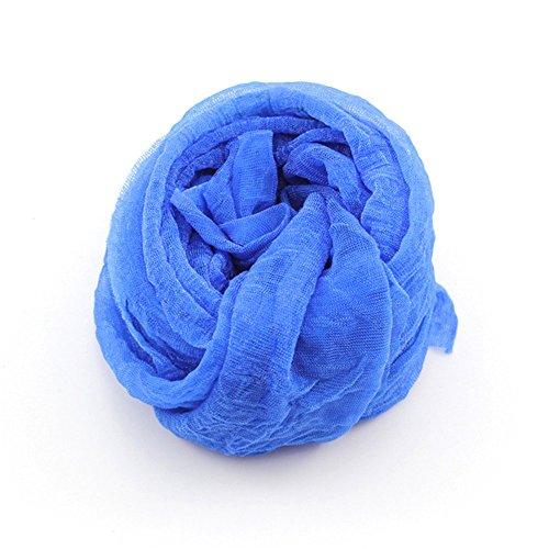 DDU Nouveau Multi-Couleur écharpe Doux élégant pour Les Filles Femmes(Bleu)