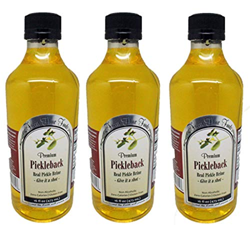 Pickleback Real Pickle Brine 16oz Bottle -100% Pickle Juice Forest Floor (3 Pack)