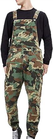 Men Denim Overalls Trousers, Fansu Dungarees Vintage Work Bib Jeans Jumpsuits with Knee Pads Pockets Coveralls Pants Big Waist Plus Size