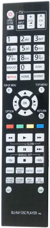 PROROK New Remote Control fit Blue-ray Panasonic Player DVD Bombing new work Fashionable for