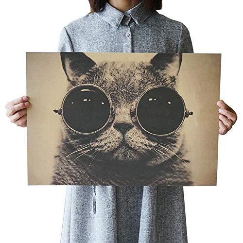 Film Retro Poster Schmuck Vintage Anime Poster Drucke Wohnzimmer dekorative Malerei Kern Kraftpapier Wandaufkleber T86 51,5x36cm