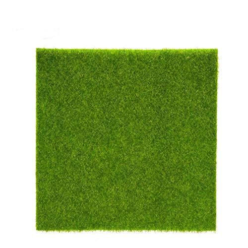 Artificielle Herbe Tapis Plastique Pelouse Grass Intérieur Extérieur Vert Synthétique Gazon Micro Ornement Paysage Décoration ( Size : 30cm X 30cm )