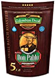 5LB Don Pablo Colombian Decaf - Swiss Water Process Decaffeinated - Medium-Dark Roast - Whole Bean Coffee - Low Acidity - 5 Pound (5 lb) Bag