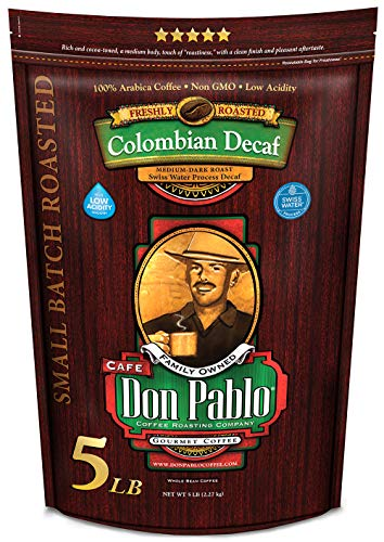 Don Pablo Colombian Decaf Medium Dark Roast Whole Coffee Beans