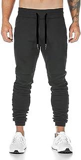 [Manatsulife] メンズ ジョガーパンツ ファスナー付き フィットネス スウェットパンツ ジム ウェア スリム K-1