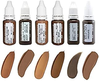 Microblading Pigments BIOTOUCH Permanent Makeup Pigments for Eye Brows 6 bottles Cosmetic Tattoo Ink Microblading Supplies Microblading Colors