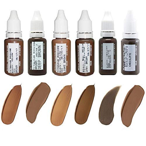 Microblading Pigments BIOTOUCH for Eye Brows 6 bottles Cosmetic Tattoo Ink Microblading Supplies Microblading Colors