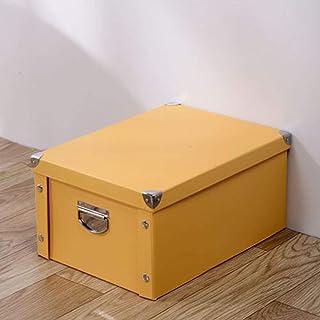 AQGELSNX Boîte de Rangement en Papier Boîte de Rangement pour Livres Boîte de Rangement Boîte de Rangement @ Yellow_38 * 2...
