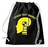 Styletex23 Crash Test Dummy Turnbeutel Sportbeutel, schwarz