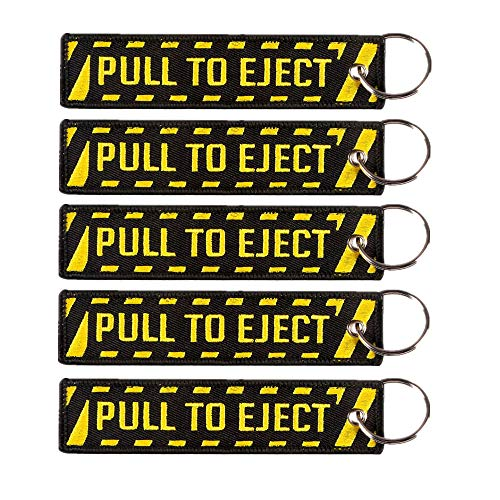 5 Pack Pull To Eject Embroidered Key Chain Cruise Luggage Tag Traveler Pilot Cabin Crew Baggage Tag