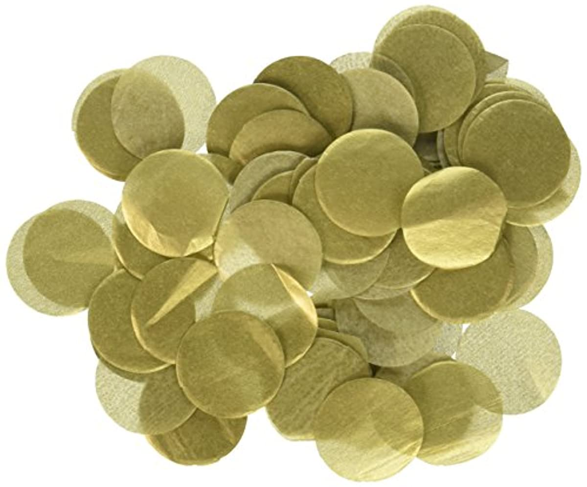 Wrapables 1 Inch Round Tissue Confetti Party Decorations for Weddings, Birthday Parties, and Showers, Gold