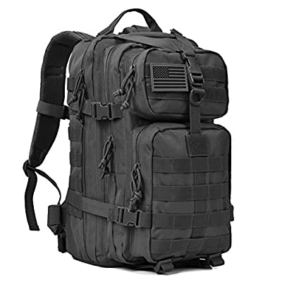 Military Tactical Backpack 3 Day Assault Pack Army Molle Bug Bag Backpacks Rucksack 35L Black