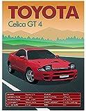 Poster Retro Vintage Oldtimer Poster Toyota Celica GT 4