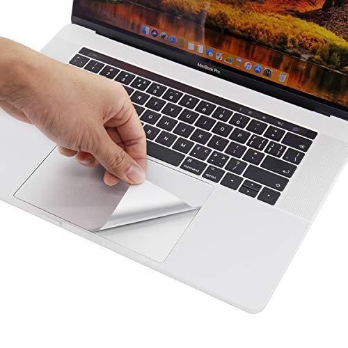 lention Adhesivo Protector para el reposamanos con Protector de trackpad para MacBook Pro (15 Pulgadas, 2016-2019), Adhesivo Protector de Vinilo (Plata)