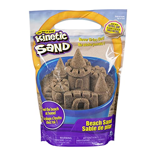 Kinetic Sand, 3lbs Beach Sand for Ages 3...