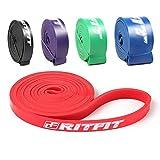 RitFit Pull Up Assistideale Banda per assistenza alle trazioni, per esercizi, mobilità, powerlifting,104,1cm extra resistenti#1 Red - 10 to 35 Pounds