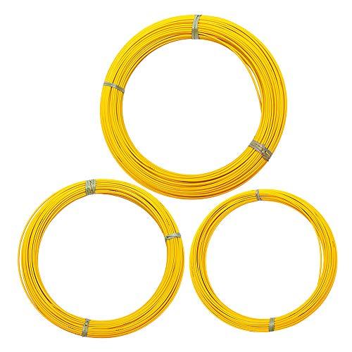 TuToy 6M X 70/100/150 M Cable de fibra de vidrio Extractor de alambre Cinta de pescado Conducto Rodder Amarillo - # 1