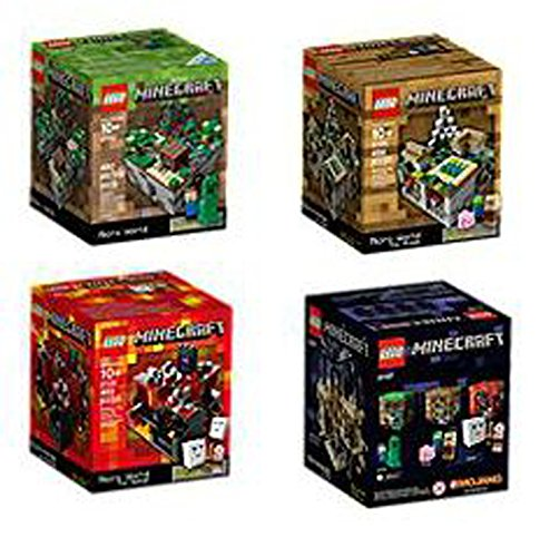 LEGO Minecraft Set Lego Minecraft Collection 4 Set [21102, 21105, 21106, 21107]