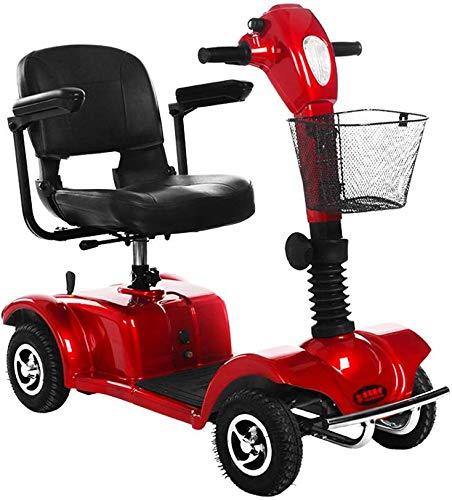 PPLLP - Sedia a rotelle per persone anziane con disabilità, colore: Rosso