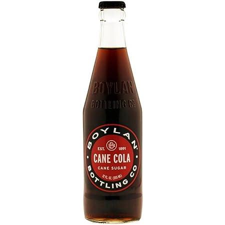 Boylan Sugar Cane Cola Soda (Glass Bottles), 12 Fl Oz (Pack of 12)