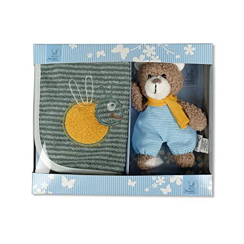 Sterntaler Geschenk-Set Ben, Klettlätzchen und Mini-Spielfigur, Alter: ab 0 Monaten