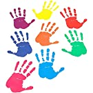 Colorful Handprint Decal Stickers for Classroom Decorations 14 x 10 cm, 32 Pairs)