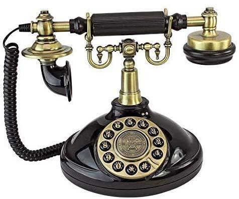 AWAING Telefonos Antiguos Vintage Teléfono Antiguo - Teléfono Giratorio de 1929 - Teléfono Retro con Cable - Teléfonos Decorativos Vintage