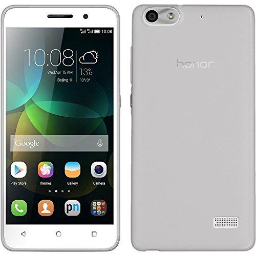 PhoneNatic Case kompatibel mit Huawei Honor 4c - Clear Silikon Hülle Slimcase + 2 Schutzfolien