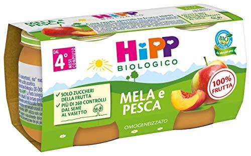Hipp - Omogeneizzato Di Frutta, Gusto Mela E Pesca, 24 Vasetti da 80 G - 1920 g