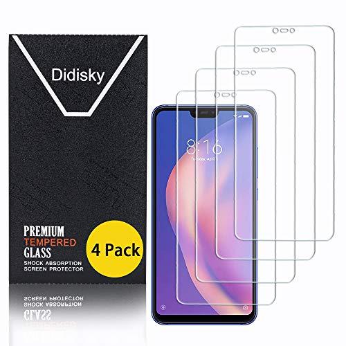 Didisky Pellicola Protettiva in Vetro Temperato per Xiaomi Mi 8 Lite, [4 Pezzi] Protezione Schermo [Tocco Morbido ] Facile da Pulire, Facile da installare, Trasparente