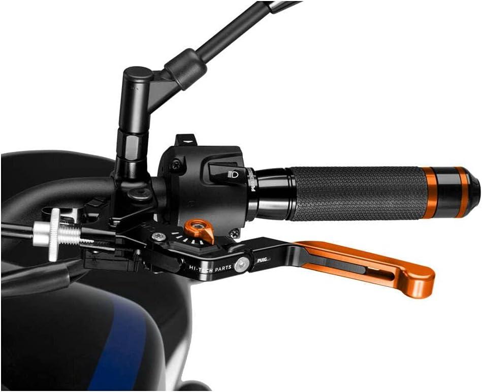 Japan Maker New Puig Foldable EXTENDABLE Special sale item Clutch Lever 3.0. Select.Orange E Black