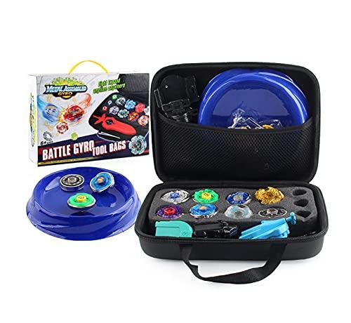 BAIDEFENG 8 Stücke Burst Battle Gyros Set, Legierungsschlacht Gyro Anzug Handtasche Mit Gyro Teller Gaming Spielzeug Für Jungen Kinder Kinder 8+ Jahre