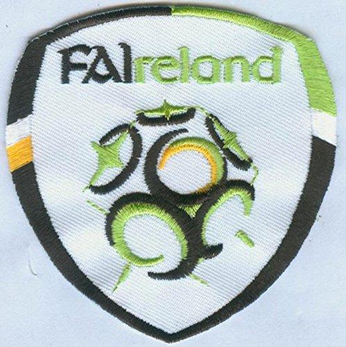 MAREL Parche termoadhesivo bordado de la selección de fútbol de la FIFA Soccer de Irlanda, 7 x 6,7 cm, réplica